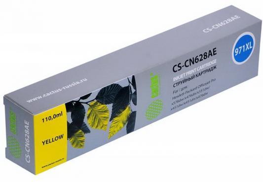 Картридж Cactus CS-CN628AE для HP DJ Pro X476dw/X576dw/X451dw желтый картридж cactus cs ept1634 для epson wf 2010 2510 2520 2530 2540 2630 2650 2660 желтый