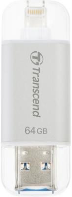 Флешка USB 64Gb Transcend JetDrive Go 300 TS64GJDG300S серебристый флешка usb 128gb transcend jetdrive go 300 ts128gjdg300k черный