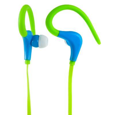 Наушники Perfeo Fitness зеленый/синий F-FNS-GRN/BL