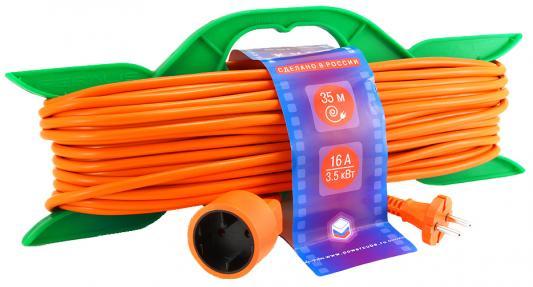 Удлинитель Power Cube PC-B1-R-35 оранжевый 1 розетка 35 м цена и фото