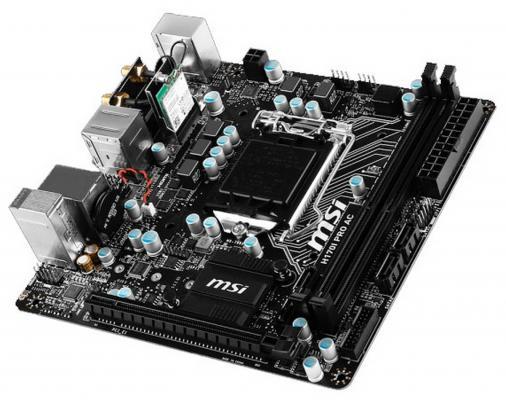 Мат. плата для ПК MSI H170I PRO AC Socket 1151 H170 2xDDR4 1xPCI-E 16x 4xSATAIII mini-ITX Retail