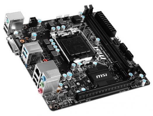 Мат. плата для ПК MSI MSI B150I GAMING PRO Socket 1151 B150 2xDDR4 1xPCI-E 16x 4xSATAIII mini-ITX Retail
