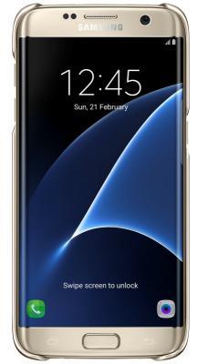 Чехол Samsung EF-QG935CFEGRU для Samsung Galaxy S7 edge Clear Cover золотистый/прозрачный