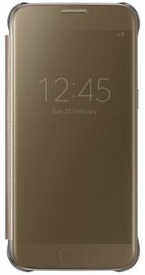 Чехол Samsung EF-ZG930CFEGRU для Samsung Galaxy S7 Clear View Cover золотистый
