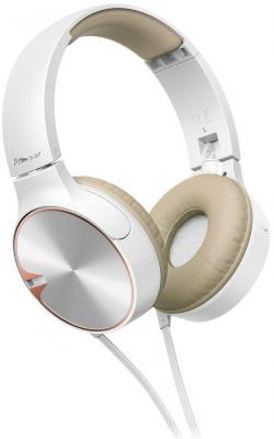 все цены на  Наушники Pioneer SE-MJ722T-T белый/золотистый  онлайн