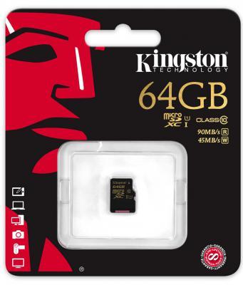 Карта памяти Micro SDXC 64GB Class 10 Kingston SDCA10/64GBSP