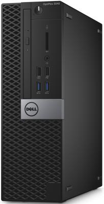 Системный блок DELL Optiplex 5040 SFF i7-6700 3.4GHz 8Gb 500Gb HD530 DVD-RW Win7Pro Win10Pro клавиатура мышь серебристо-черный 5040-2648