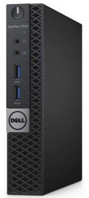 Тонкий клиент DELL OptiPlex 7040 Micro Intel Core i5-6500T 4Gb 500Gb Intel HD Graphics 530 Windows 7 Professional + Windows 10 Professional черный 7040-2716