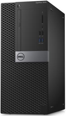 Системный блок DELL Optiplex 3040 MT i3-6100 3.7GHz 4Gb 500Gb HD4400 DVD-RW Win7Pro Win10Pro клавиатура мышь черный серебристый 3040-2389