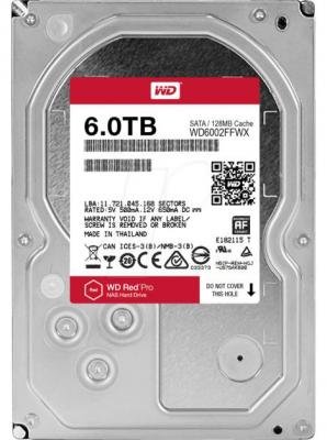 Жесткий диск 3.5 6 Tb 7200rpm 128Mb cache Western Digital Red Pro SATAIII WD6002FFWX жесткий диск 3 5 8 tb 5400rpm 128mb cache western digital red sataiii wd80efzx