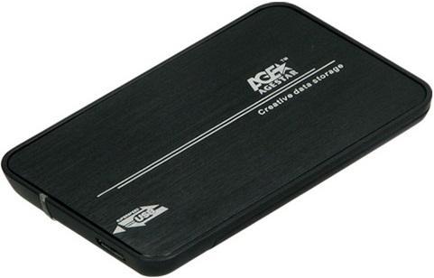 """Внешний контейнер для HDD 2.5"""" SATA AgeStar 31UB2A8 USB3.1 черный"""