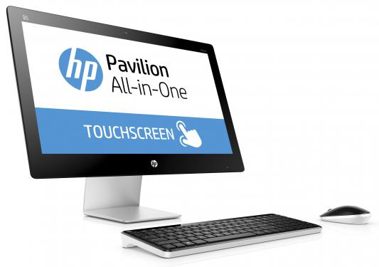 "Моноблок 27"" HP Pavilion 27-n223ur 1920 x 1080 Intel Core i5-6400T 8Gb 1Tb + 8 SSD AMD Radeon R7 A360 4096 Мб Windows 10 серебристый белый W1E38EA"