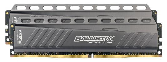 Оперативная память 16Gb (2х8Gb) PC4-21300 2666Hz DDR4 DIMM Crucial BLT2C8G4D26AFTA комплект модулей памяти crucial technology blt2c8g4d26afta