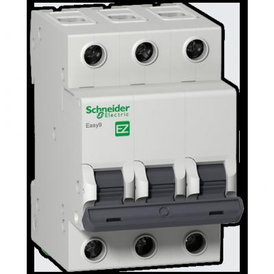 Автоматический выключатель Schneider Electric EASY 9 3П 32A C EZ9F34332 выключатель автоматический модульный schneider electric 3п c 40а 4 5ка easy 9 sche ez9f34340