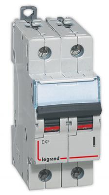 Автоматический выключатель Legrand DX3 6000 10кА тип C 2П 4А 407795
