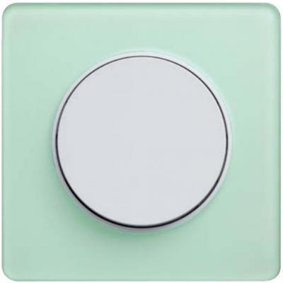 Рамка 1 пост зеленый лед белый Schneider Electric S52P802S