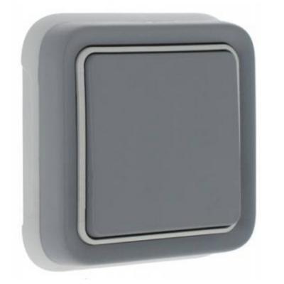 Переключатель Legrand Plexo одноклавишный серый 69811