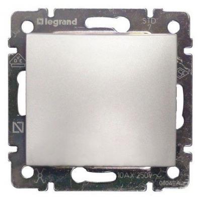 Переключатель Legrand Valena одноклавишный алюминий 770107