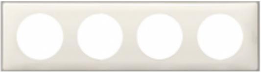 Рамка Legrand Celiane 4 поста слоновая кость 66624 legrand рамка четырехместная legrand celiane норка