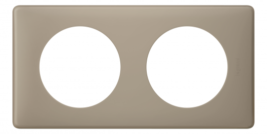 Рамка Legrand Celiane 2 поста серый перкаль 66722 переключатель legrand celiane на 2 направления нажимной 6ах 67015
