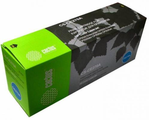 Тонер Картридж Cactus CS-CE270AR черный для HP LJ Ent CP5525 (13000стр.) картридж cactus cs ce260x для hp lj cp4025 cp4525 cm4540 черный 17000стр