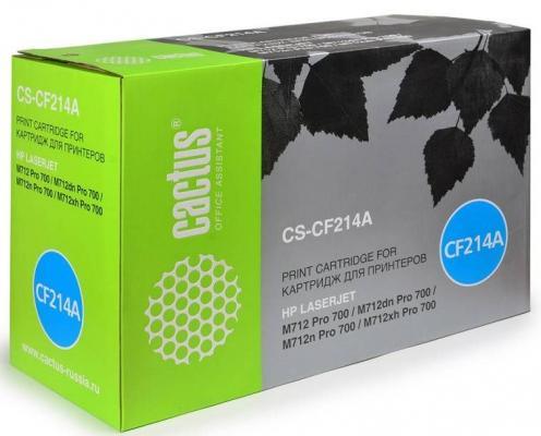 Тонер Картридж Cactus CS-CF214AR черный для HP LJ 700 MFP M712 (10000стр.) картридж hp cf214x для lj 700 mfp m712 17500стр