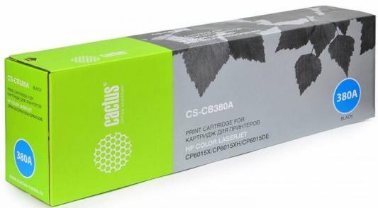 Тонер Картридж Cactus CS-CB380AR черный для HP CLJ CP6015X/6015XH/6015DE (16500стр.) тонер картридж cactus cs d3470b