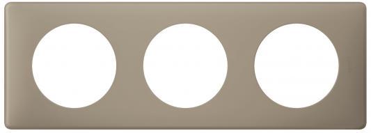 Рамка Legrand Celiane 3 поста серый перкаль 66723