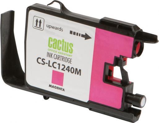 Картридж струйный Cactus CS-LC1240M пурпурный для Brother MFC-J6510/6910DW (12мл)