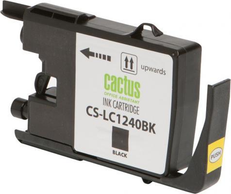 Картридж струйный Cactus CS-LC1240BK черный для Brother MFC-J6510/6910DW 24мл струйный картридж brother lc1240c голубой для mfc j6510 6910dw
