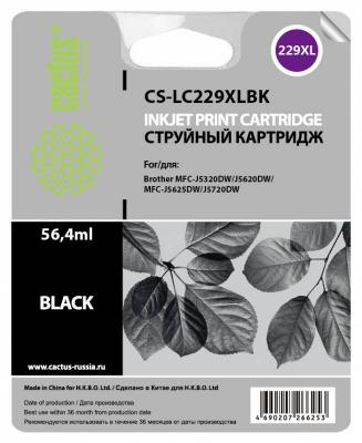 Картридж струйный Cactus CS-LC229XLBK черный для Brother MFC-J5320DW/MFC-J5620DW/MFC-J5625DW (2400стр.)