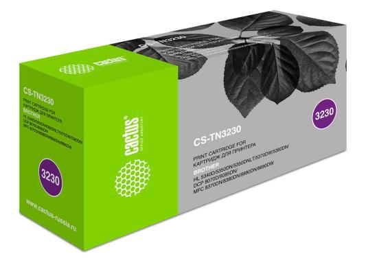 Тонер Картридж Cactus CS-TN3230 черный для Brother HL-5340D/5350DN/5370DW/DCP-8070D/8085DN (3000стр.)
