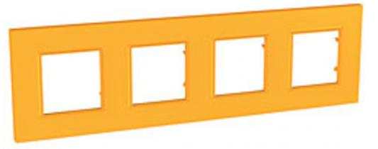 Рамка 4 пост оранжевый Schneider Electric MGU4.708.29