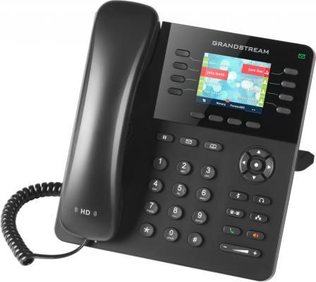 Телефон IP Grandstream GXP2135 8 линий 4 SIP-аккаунта 2x10/100/1000Mbps LCD PoE телефон ip akuvox sp r55p 3 sip аккаунта 2x10 100mbps 2 3 lcd poe