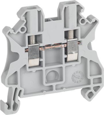 Клеммник Schneider Electric винтовой проходной сечением провода 2.5мм 2 точки подключения NSYTRV22