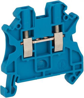Клеммник Schneider Electric винтовой проходной сечением провода 2.5мм 2 точки подключения NSYTRV22BL