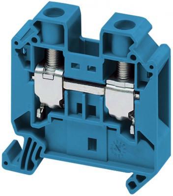 Клеммник Schneider Electric винтовой проходной сечением провода 16мм 2 точки подключения NSYTRV162BL