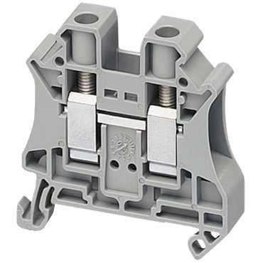 Клеммник Schneider Electric винтовой проходной сечением провода 10мм 2 точки подключения NSYTRV102