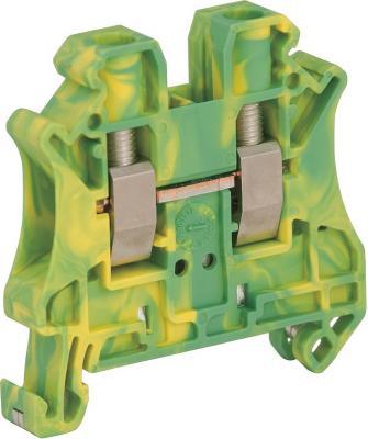 Клеммник Schneider Electric винтовой с заземлением сечением провода 6мм 2 точки подключения NSYTRV62PE