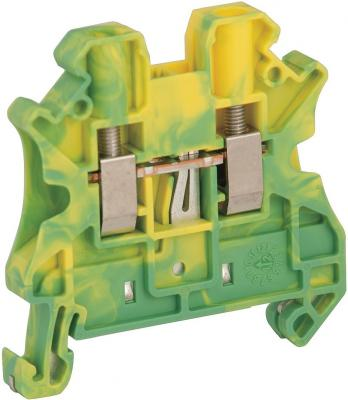 Клеммник Schneider Electric винтовой с заземлением сечением провода 4мм 2 точки подключения NSYTRV42PE