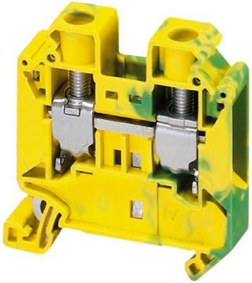 Клеммник Schneider Electric винтовой с заземлением сечением провода 16мм 2 точки подключения NSYTRV162PE