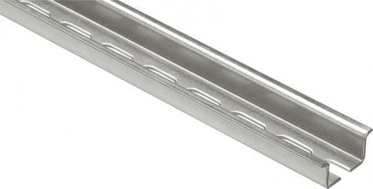 DIN рейка Legrand симметричная с отверстиями 15мм 2м 47723 плинтус legrand напольный 41х10мм 2м цвет антракцит 30092