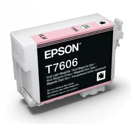 Картридж Epson C13T76064010 для Epson SC-P600 пурпурный vilaxh for epson p600 chip resetter for epson surecolor sc p600 printer t7601 t7609 cartridge resetter