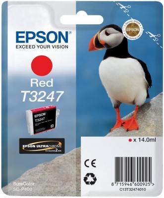 Картридж Epson C13T32474010 для Epson SC-P400 красный принтер струйный epson l312