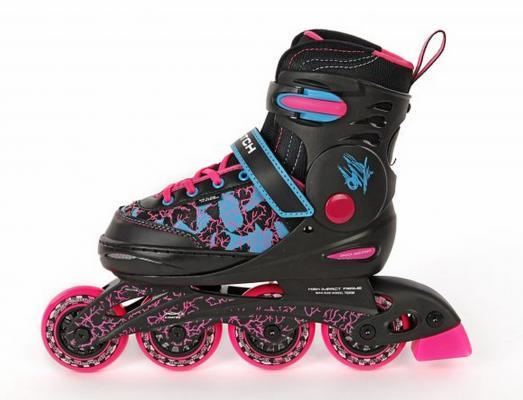 Купить Коньки роликовые пластиковая основа р.30-33 розовые X-Match 64611, 30, 31, 32, 33, для девочки, Детские ролики