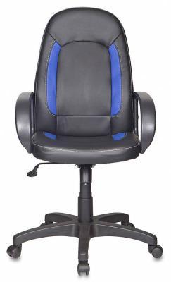 Кресло Бюрократ CH-826/B+BL искусственная кожа черно-синий кресло бюрократ ch 797axsn красный