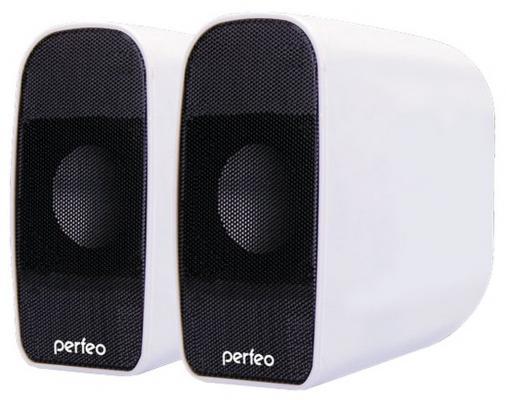 Колонки Perfeo Rondo PF-053 2x3 Вт USB белый