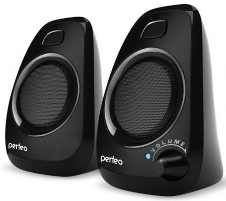 Колонки Perfeo Delta PF-057 2x3 Вт USB черный