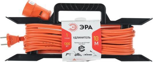 Удлинитель Эра UF-1-2x0.75-10m оранжевый 1 розетка 10 м