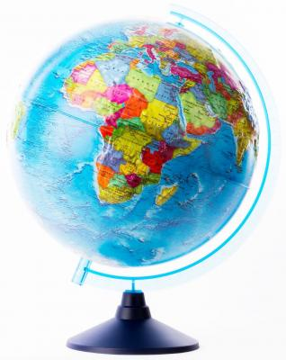 Глобус Земли политический рельефный 320 серия Евро Globen Ке013200230